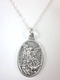 details about st michael archangel guardian angel medal pendant necklace 20 chain gift box