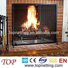 fireplace spark screen chain link mesh spark screen fireplace curtain mesh fireplace spark screen rod kit