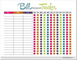 Bill Payment Tracker Pdf Freebie Printable Interactive You Can