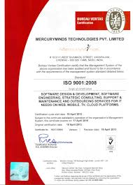 Mercuryminds An Iso 90012008 Certified Company Mercuryminds