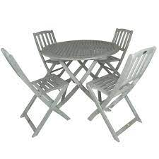 white wash folding garden table and