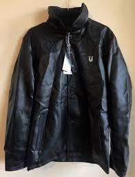 details about vg world collection men s faux leather jacket black sz l