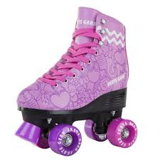 details about cal 7 roller skates indoor outdoor graphic skating faux leather boot pvc purple