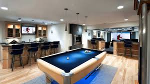 Modern Man Cave With Pool Table Awesome Man Cave