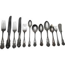 wallace sterling silver sir christopher pattern flatware set 145 pieces