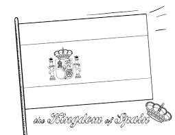 Small Picture Printable Spanish flag coloring page Free PDF download at http