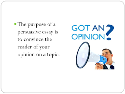 what you need to know to do your best high school writing  3 the purpose of a persuasive essay is to convince the reader of your opinion on a topic