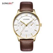 aliexpress com buy longbo luxury men genuine leather watch longbo luxury men genuine leather watch sports quartz watches for men male leisure clock simple watch