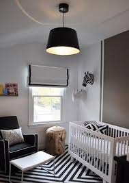 stunning baby boy nursery room design with black white striped rug for and decor 7