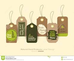 Food Product Label Design Template Set Of Organic Healthy Food Tag And Label Sticker Design