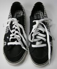 chanel vans. vans shoes sneakers black \u0026 white lace up womens size 7 chanel i