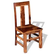 Huberxxl Huber Xxl Esszimmerstühle 4 Stk Sheesham Holz Massiv