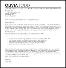 Graphic Design Cover Letter Present Vision Freelance Designer Sample