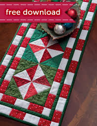 Free Christmas Quilt ePatterns & Peppermint Candy Table Runner Adamdwight.com
