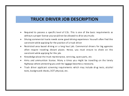 truck driving skills for resume   cdl truck driver resume sample    cdl truck driver job description for a resume