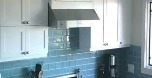 blue glass subway tile backsplash blue glass subway tile blue tile kitchen blue kitchen white kitchen