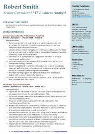 Business Analyst Resume Sample Mesmerizing IT Business Analyst Resume Samples QwikResume