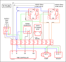 wiring an alpha 100 cooker central heating into s plan system