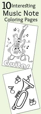 10 Interesting Music Note Coloring Pages