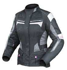 Dririder Apex 4 Airflow Ladies Jacket Black White Grey