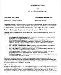 Personnel Management Job Description Sample Human Resources Job Description 7 Examples In Pdf