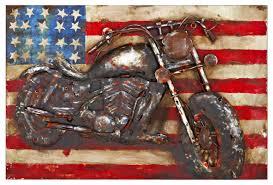 american motorcycle 3d rectangular metal wall art on rectangular metal wall art with american motorcycle 3d rectangular metal wall art metal wall art