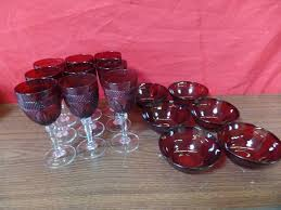 cranberry wine glasses and bowls m a williams slot machine oriental rug and antiques k bid