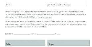 Simple Bill Of Sale For Automobile Automobile Bill Of Sale Template