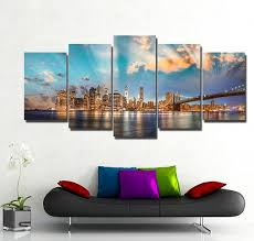 new york city skyline 5 piece canvas wallart hd quality on new york city skyline canvas wall art with new york city skyline 5 piece canvas wallart hd quality offersplace