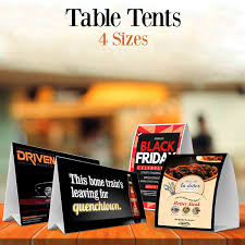 Table Tent 2 Panel Hall Letter Shop Inc