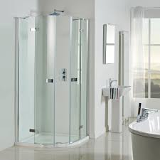 Plain Curved Shower Enclosures Uk Vision Frameless Pivot Door Quadrant Intended Decor