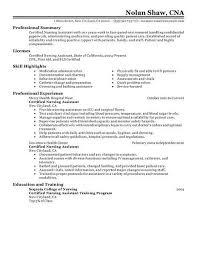 resume sample cna resume sample with experience free resume nurse aide resume
