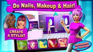 sunnyville salon game play free hair nail make up games screenshot 1