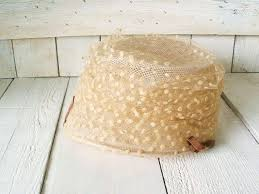 Image result for vintage white 1950s cap hat with net