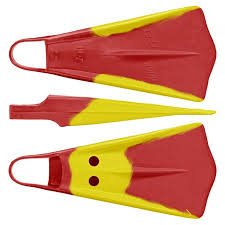 Duck Feet Limited Edition Red Yellow Swimfins Xxl