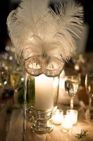 Masquerade Mask Table Decorations like the masks but not a fan of the all white theme The Simple 15