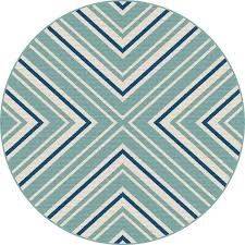8 round blue and aqua indoor outdoor rug garden city rc willey furniture