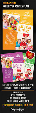 holiday kids flyer psd template by elegantflyer holiday kids flyer psd template