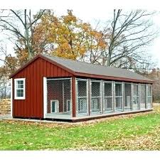 amish metal roofing x ft made large 7 run dog kennel with feed room f16