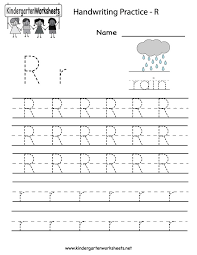 Assignment Letter Awesome Kindergarten Letter R Writing Practice Worksheet Printable Future