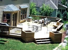 backyard deck design ideas. Backyard Deck Plans Ground Level Ideas Designs Design Concept Diy Small