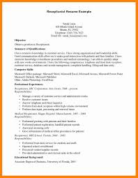 Examples Of Receptionist Resumes 60 medical receptionist resume sample letter signature 40