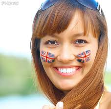 flags of uk are everywhere in your country and on your face also during the national