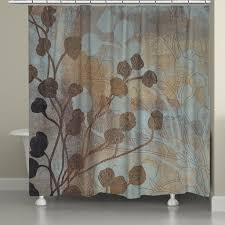 brown and blue shower curtain. spa blue and gold shower curtain brown