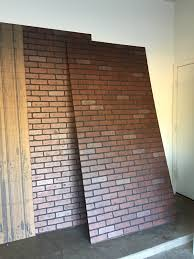 marvellous faux brick wall home freckles in april diy paneling for basement walls panels covering pics