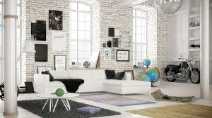 25 Living Rooms With White Brick Walls  White Brick Walls Bricks White Brick Wall Living Room