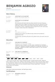 Assistant Accountant Resume Samples Visualcv Resume Samples Database