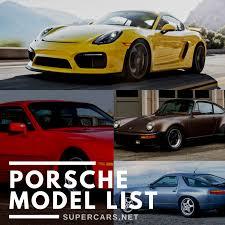 Porsche Model Chart Porsche History Models Iconic Cars News More
