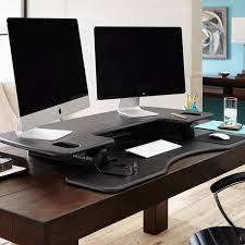 deck screen desk office furniture. PP48-BLK Varidesk Pro Plus 48\ Deck Screen Desk Office Furniture K