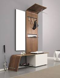 foyer furniture for storage. Furniture, Small Furniture For Entryway Spaces With Wall Mounted Mirror Wooden Clothing Hooks And Bench Seat Shoe Storage Ideas ~ 45 Foyer
